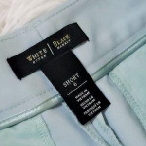 White House Black Market Shorts - WHBM BLUE CELADON COASTAL STRETCH SHORTS D6